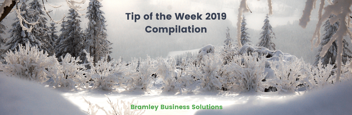 Blog Featured image Tip of the week compilation - snowy scene