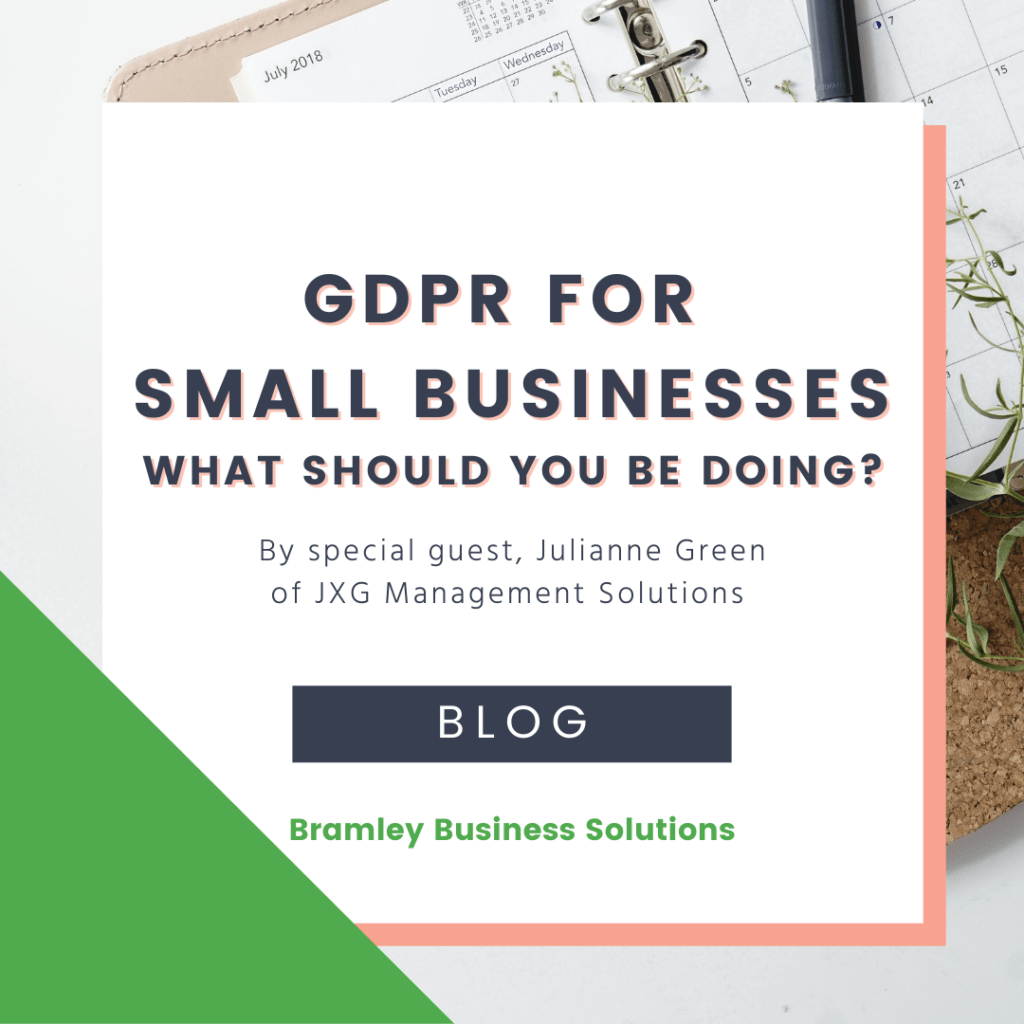 GDPR for small business - image with the title and author