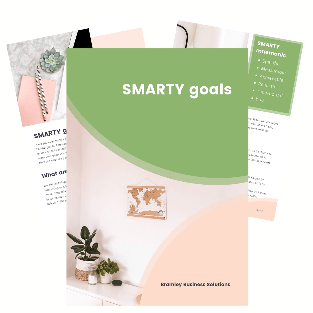 preview pages of the SMARTY goals eBook