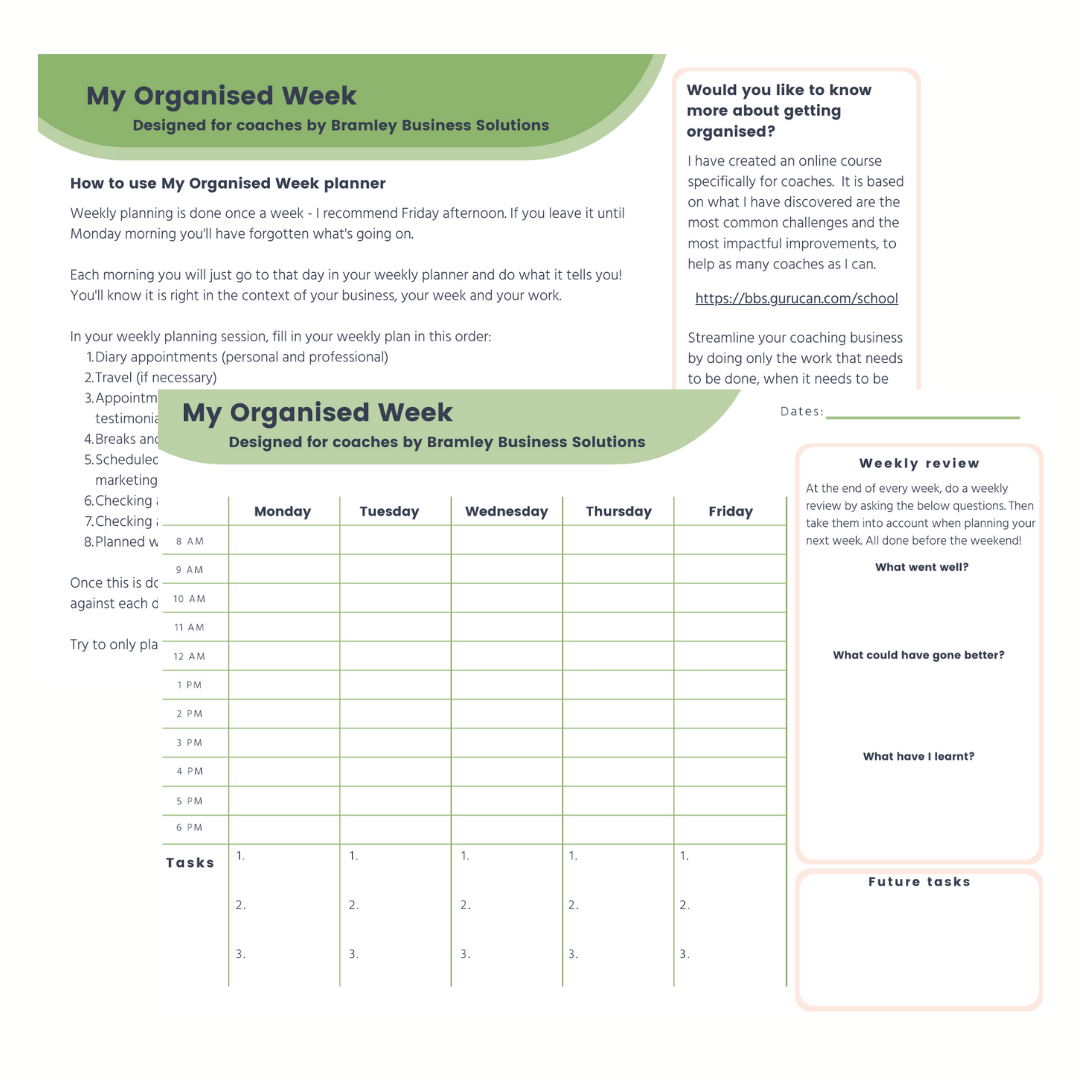 preview pages of the ultimate business checklist